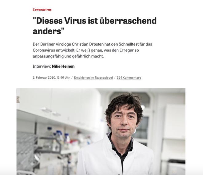 COVID-19: Der Mann und das Virus