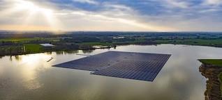 Photovoltaik: Auf dem Baggersee schwimmt ein Solarkraftwerk