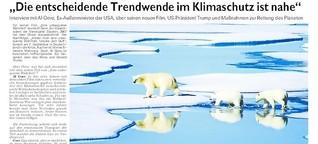 Al Gore: Neue filmische Warnung vor  Klimawandel