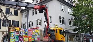 Rizzis Berliner Mauerstück in Balingen