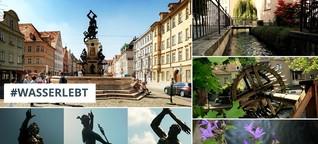 #wasserlebt in Augsburgs Innenstadt: Brunnen, Brücken und Kanäle