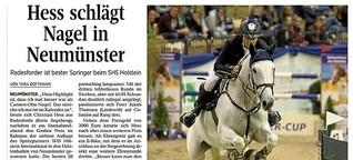 Hess schlägt Nagel beim SHS Holstein International