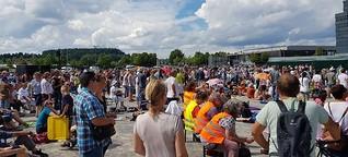 Großdemo gegen Corona-Maßnahmen in Ravensburg