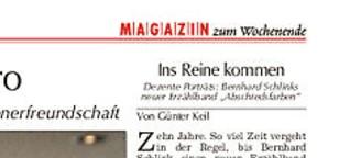 """Rezension von Bernhard Schlinks """"Abschiedsfarben"""""""