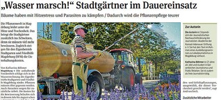 """""""Wasser marsch!"""" Stadtgärtner im Dauereinsatz"""