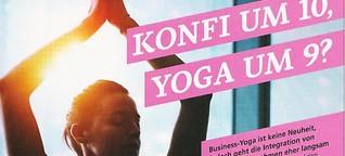 Konfi um 10, Yoga um 9?