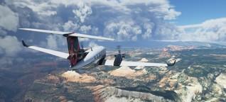 """""""Wir bilden im 'Flight Simulator' die Welt ab"""""""