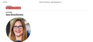 Porträt von Ana Zenclussen Tagesspiegel Background Gesundheit und E-Health