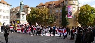 Solidaritäts-Proteste für Belarus im Ausland