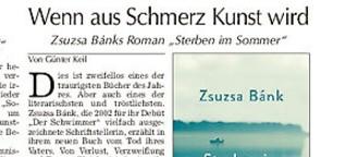 """Rezension von Zsuzsa Bánks """"Sterben im Sommer"""""""