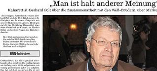 Gerhard Polt feiert Bühnenjubiläum mit den Well-Brüdern
