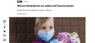 Warum Kinderärzte kaum auf Corona testen