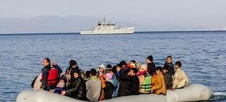 Griechische Küstenwache setzt Flüchtlinge auf dem Mittelmeer aus