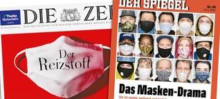 """Die Maskenpflicht als Drama bei """"Spiegel"""" und """"Zeit"""""""