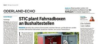STIC plant Fahrradboxen an Bushaltestellen in Märkisch-Oderland