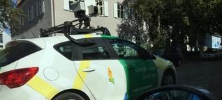 Googles Kameraauto fährt durch die Stadt