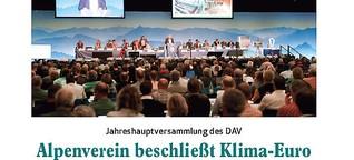 Alpenverein beschließt Klima-Euro