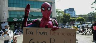 """Aktivist über Proteste in Myanmar: """"Wir schaffen das auch ohne Handy"""""""