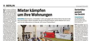 Mieter der Hermannstraße 48 in Neukölln fordern Vorkaufsrecht