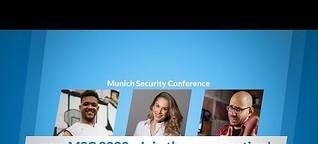 Training / Redaktion (2020) Youtuber auf der Münchener Sicherheitskonferenz