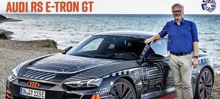 Audi RS e-tron GT: Viertelmeile, Dynamik-Parcours und Inselrunde