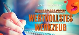 Notizbuch für Ideen: Richard Bransons wertvollstes Werkzeug