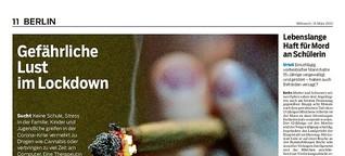 Immer mehr Jugendliche konsumieren in der Pandemie Cannabis
