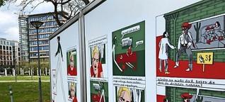 Comicbuchpreis 2021: Comic-Anna führt durch die Stuttgarter Innenstadt