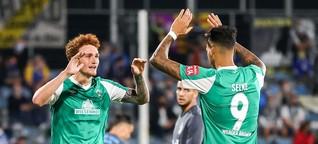 Mühsam in Jena: Die Highlights von Werders Pokal-Sieg