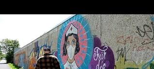 """Die """"Super-Nurse"""": Ein Graffiti von Tätowierer """"Uzey"""" geht um die Welt"""