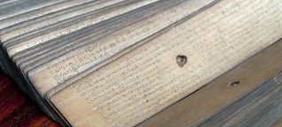 Südindische Palmblatt-Bibliotheken - Weissagung nach Daumenabdruck