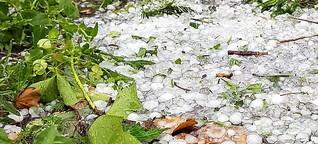 Wetter im Juni: Hagel macht den Garten platt!