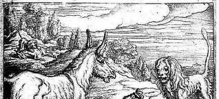 Wie der Esel mit dem Löwen jagen ging