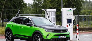 Ladekurve - Opel Mokka-e (10 auf 80 Prozent) - Saving-Volt