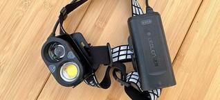 Taschenlampen und Stirnlampen im Test: Die sind ganz helle