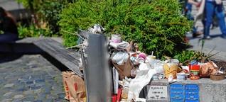 In Konstanz stapelt sich der Abfall um bereitgestellte Container: ein Problem, viele Lösungsansätze und (noch) kein Entschluss