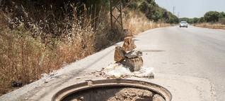 Libanon: Löcher klaffen in Strassen und Kassen