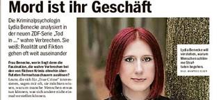 "Kriminalpsychologin Lydia Benecke analysiert im ZDF ""True Crime""-Fälle"