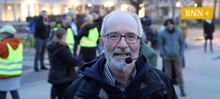 Karlsruher klagt über strenge Auflagen bei Corona-Demos trotz sinkender Inzidenz