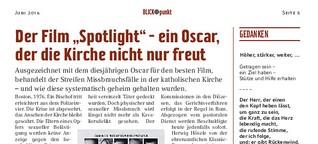 """""""Spotlight"""": Ein Oscar, der die Kirche nicht nur freut"""