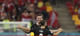 Am Schauplatz: Österreichs Sieg - eine Achterbahnfahrt der Gefühle
